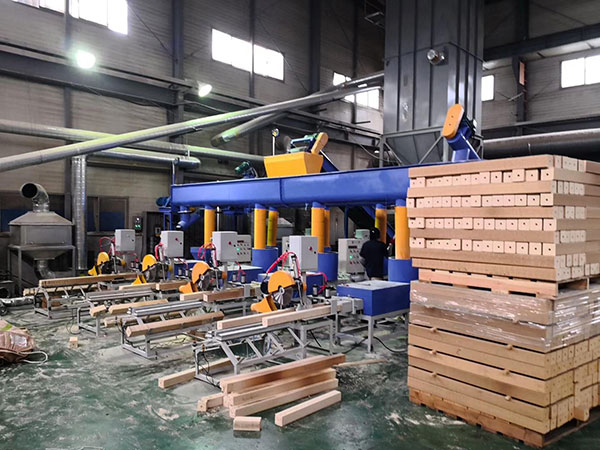 automatic wood sawdust block production line