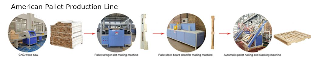 American pallet production line