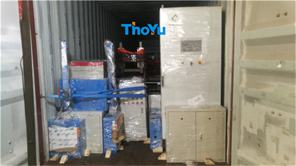 shipment of automatic presswood pallet production line