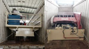 pallet press machine deliver to mexico