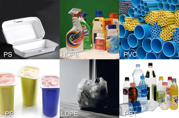 Plastic products of different materials
